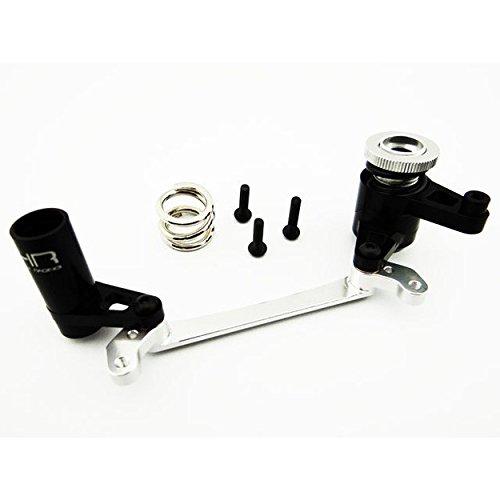 (Hot Racing YEX4801 Adjustable Aluminum Steering Bell Crank & Servo Saver)