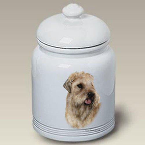 Terrier Cookie Jar - Soft Coated Wheaton Terrier - Tamara Burnett Treat Jars