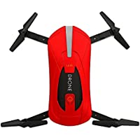 RC Drone with Camera, Anyren 2.4G 4CH Altitude Hold HD Camera WIFI FPV RC Quadcopter Pocket Drone Selfie Foldable for Kids Gift (Red)