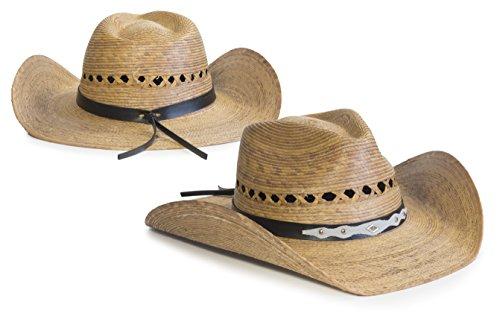 Mexican Palm Western Sombrero Cowboy Hat Safari Sun Lifeguard Gardener SPF Big  Brim 88ed4011fcd5
