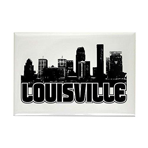 CafePress Louisville Skyline Rectangle Magnet Rectangle Magnet, 2