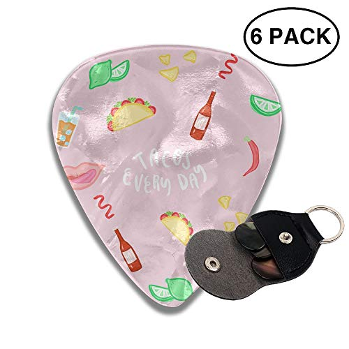 Colby Keats Guitar Picks Plectrums Fruit and Food Classic Electric Celluloid Acoustic for Bass Mandolin Ukulele 6 Pack 3 Sizes .71mm -