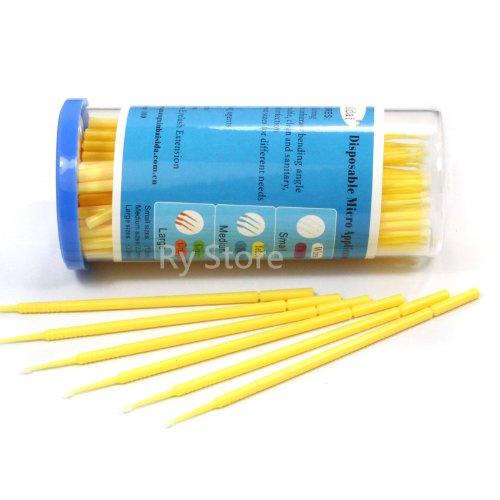 s-m-l-disposable-micro-brush-swab-applicators-eyelash-extension-100ps-choose-m-20mm
