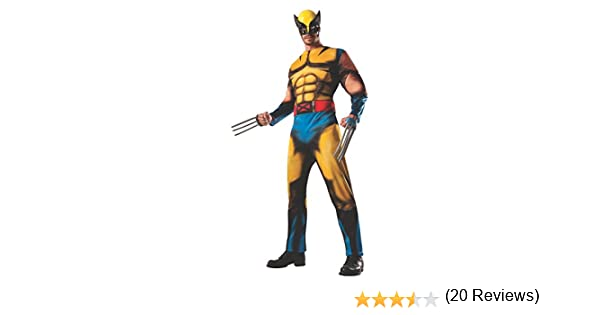 Adult Deluxe Wolverine Fancy Dress Costume Standard: Amazon.es ...