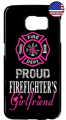 Cell World LLC - Firefighter Fireman Proud Girlfriend in Pink Black Hard Plastic Case Cover for Samsung Galaxy S10e - 5.8