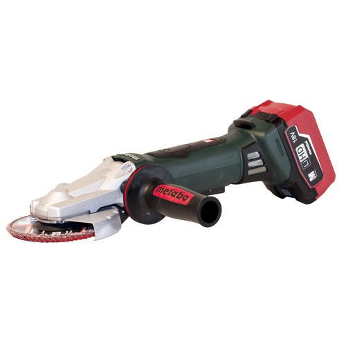 "Metabo 18V 5"" Flat Head Angle Grinder 6.2Ah Kit"