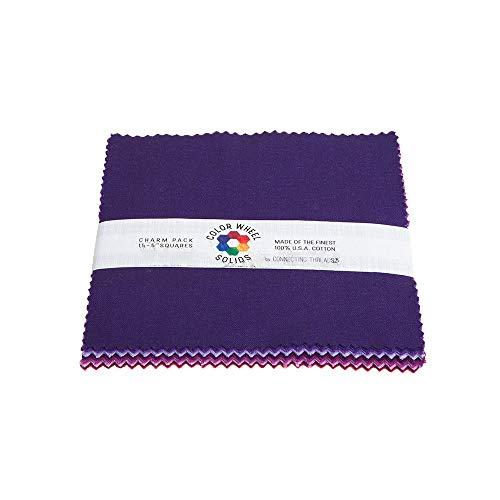 Garden Charm Pack - Connecting Threads Color Wheel Premium Precut Fabric Bundle (Summer Garden Charm Squares)