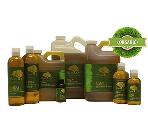 4 Fl.oz Premium Neem Oil Hair Growth & Scalp Treatment Skin Care Moisturizer Pure Neem Oil Quart