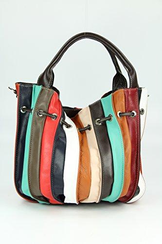 Belli - Bolsa de la compra de cuero mujer multicolor - multicolor 3
