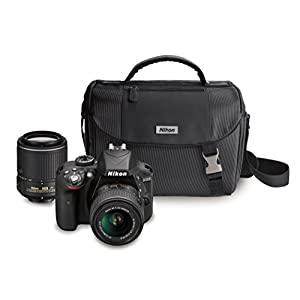41G8D 4CF3L. SS300  - Nikon D3300 DX-format DSLR Kit w/ 18-55mm DX VR II & 55-200mm DX VR II Zoom Lenses and Case (Black)
