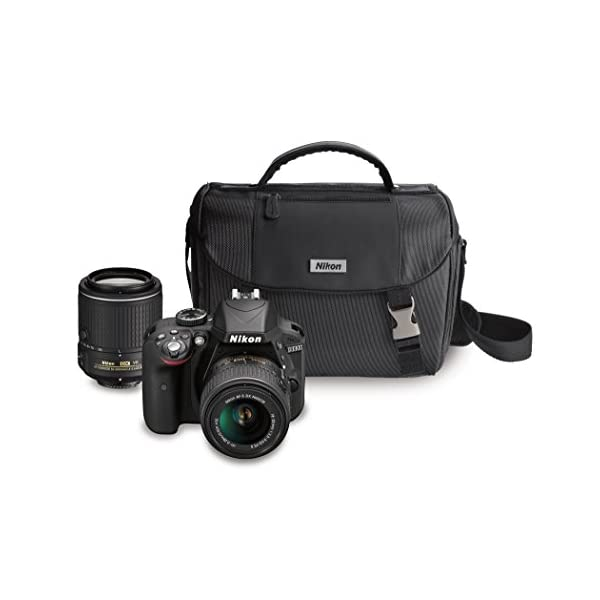 41G8D 4CF3L. SS600  - Nikon D3300 DX-format DSLR Kit w/ 18-55mm DX VR II & 55-200mm DX VR II Zoom Lenses and Case (Black)