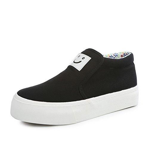 Sonrisa sólido pedal perezoso Lok Fu zapatos de verano/Zapatos de lona moda casual clásico C