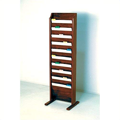 Wooden Mallet 10-Pocket Free-Standing File Holder, Letter Size, Mahogany by Wooden Mallet (Image #3)