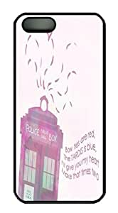 Doctor Who Pink Tardis Sweet Love Unique iphone 5S Case Black PC Case for iphone 5S