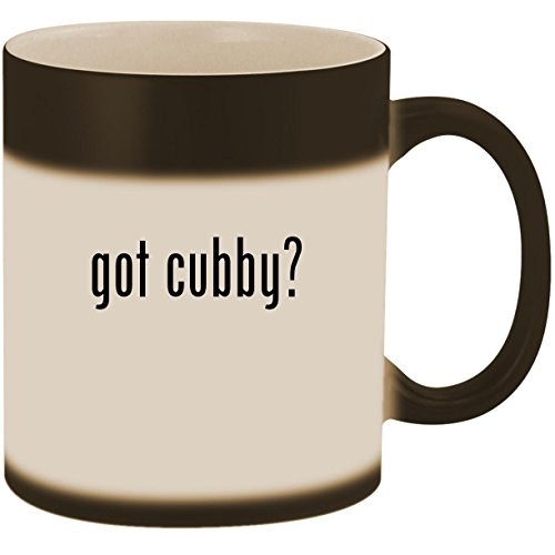 - got cubby? - 11oz Ceramic Color Changing Heat Sensitive Coffee Mug Cup, Matte Black