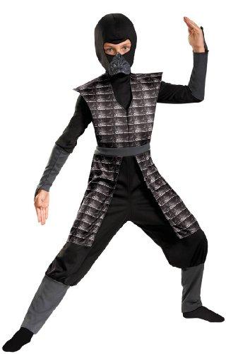 Disguise Shadow Ninjas Night Fury Boys Costume, Black, 7-8