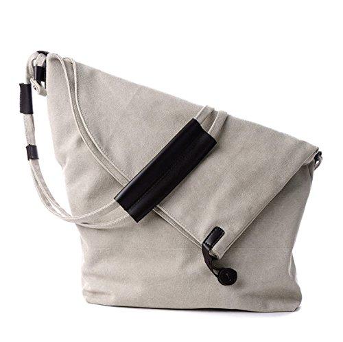 Mujer Nuevo Estilo Europa Y América Simple De Moda Usable Lona bolso De Hombro Inclinado Solo Hombro Grey02