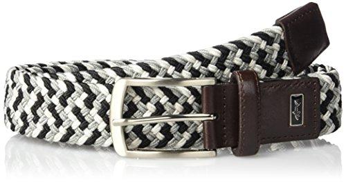 Greg Norman Men's Multi Colored Belt, black/White/Gray, 34 (White Belt Black Belt)