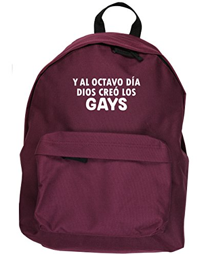 HippoWarehouse Y Al Octavo Día Dios Creó Los Gays kit mochila Dimensiones: 31 x 42 x 21 cm Capacidad: 18 litros Granate