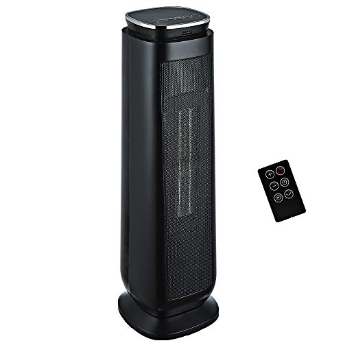 Aikoper Space Heater, 1500W Ceramic Tower Heater, Portable Electric Oscillating Heater with...