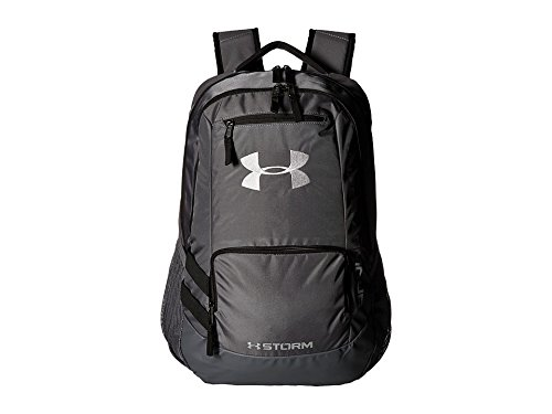 Under Armour Unisex Team Hustle Backpack, Graphite/Graphite, One Size