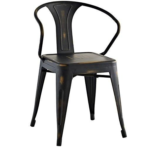 Modway Promenade Modern Aluminum Bistro Dining Chair in C...