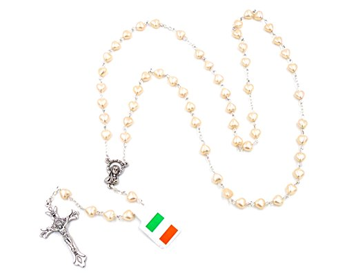 Pearl Crucifix Rosary by J.C. Walsh & Sons- Made In Ireland ()