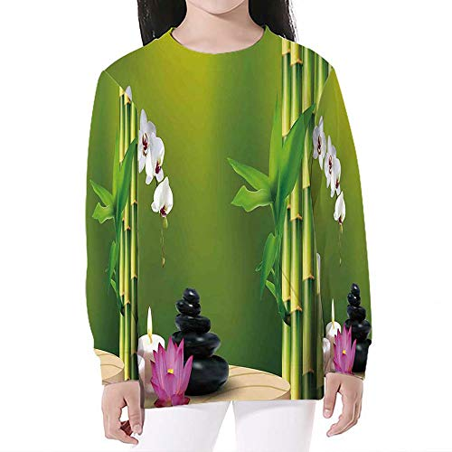 (Unisex Realistic 3D Digital Print,Spa Decor,Sweatshirts Pocket Pullover)