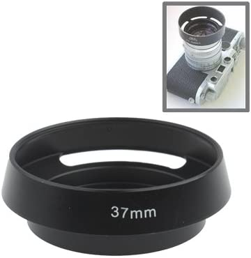CAOMING 37mm Metal Vented Lens Hood for Leica Black Durable