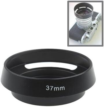 Yangjingya Camera Lens Accessories 37mm Alloy Vented Lens Hood for Leica Black