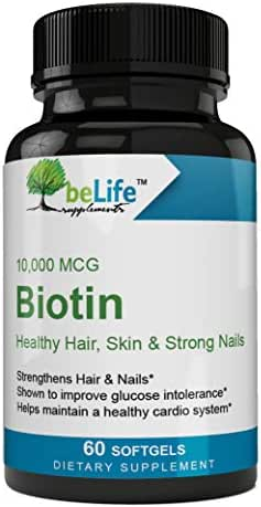 Healthy Hair, Skin & Stronger Nails Biotin 10,000 MCG High-Potency Fast-Acting, Real Results softgels