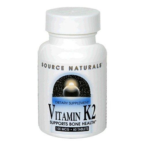 Source Naturals vitamine K2 100mcg, 60 comprimés (lot de 2)