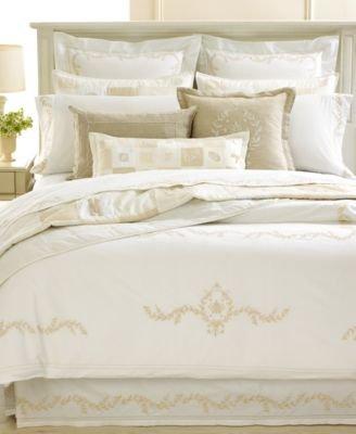 Martha Stewart Collection Bedding, Trousseau Crest King Bedskirt