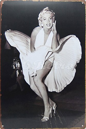 Marilyn Monroe, Metal Tin Sign, Wall Decorative Sign, Size 8