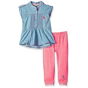 U.S. Polo Assn. Girls' Fashion Top and Legging Set 14