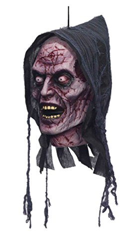 Current Events Halloween Costumes (Ghost Halloween Prop Poly Foam Head Hanging-12x6x5 inches)