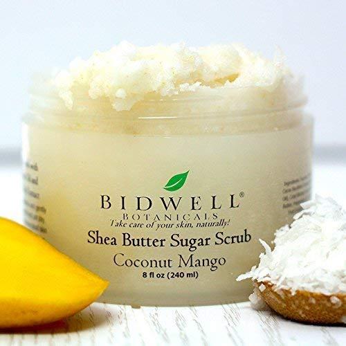 Exfoliator Herbal (Coconut Mango Scented Sugar Scrub Body Exfoliator)