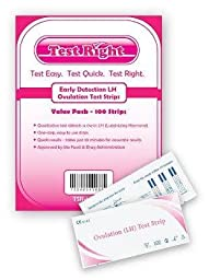 Test Right Early Detection LH Ovulation FDA APPROVED Test Strips, 100 Count