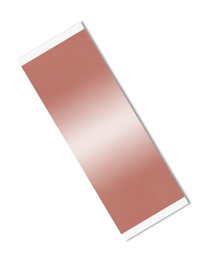 TapeCase Copper Foil Tape with Acrylic Adhesive, Converted from 3M 1126, 10.5'' Length, 3'' Width, Rectangles (Pack of 25)
