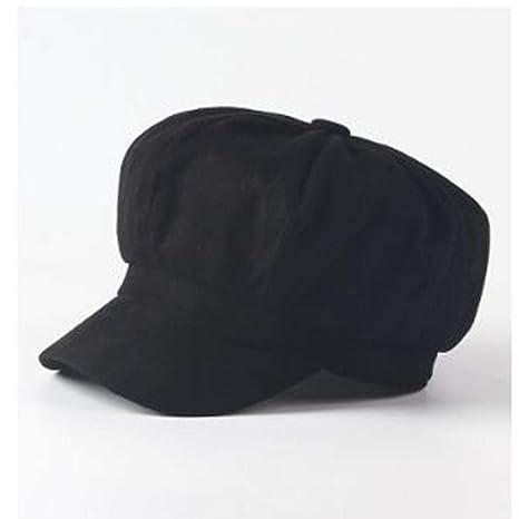 FJKL Sombreros Boinas para Mujer Gorras Newsboy Cap Beret Mujer ...