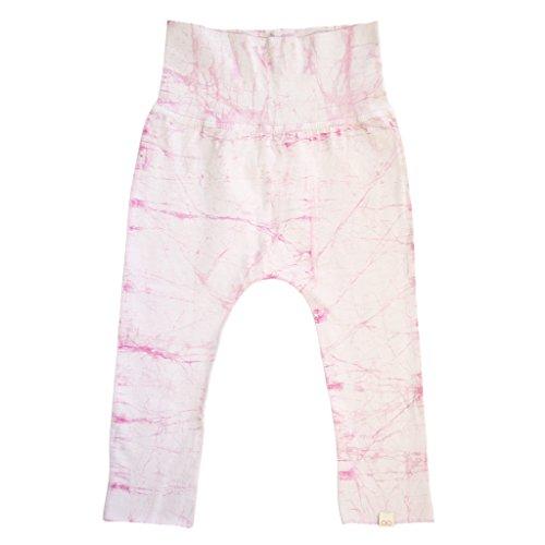 KOOSHOO Batik Kids Pants - Expandable Organic Cotton Baby Pants for Boys Girls Unisex | Rose Quartz Pink |1.5-3 Years -