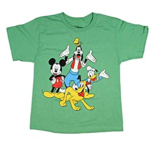 Disney Boys' Mickey Mouse And Friends Pluto Goofy Donald Duck Youth Kids T-Shirt