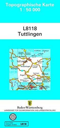 L8118 Tuttlingen: Zivilmilitärische Ausgabe TK50 (Topographische Karte 1:50 000 (TK50))