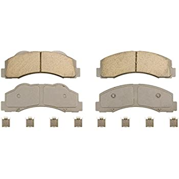 Rear Wagner ThermoQuiet QC1012A Ceramic Disc Pad Set With Installation Hardware