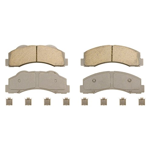 Wagner ThermoQuiet QC1414 Ceramic Disc Pad Set With Installation Hardware, Front