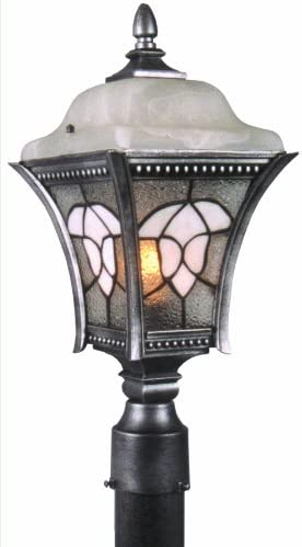 Special Lite Products Abington F-4980-SW Estate Post Mount Light, Swedish Silver