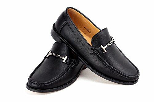 De Conducción Mocasín Casuales Hombre Sin Cierres Negro Zapatos Inteligentes Mocasines Cuero ngxdSFwd8q