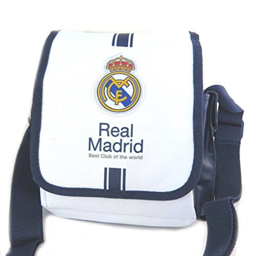 Leinwand umhängetasche 'Real Madrid'weiß navy - 22x17x7 cm.
