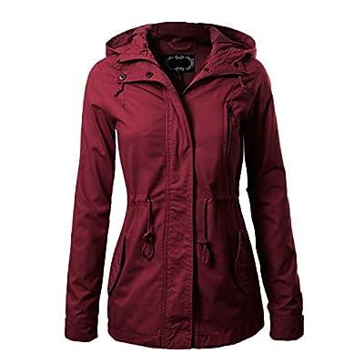 Design by Olivia Women's Military Anorak Safari Hoodie Jacket: Clothing