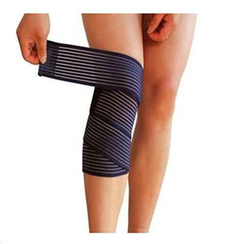 Price comparison product image Haotfire Elastic Knee Compression Bandage Wraps ¨C Velcro Straps Support For Legs, Thighs, Hamstrings Ankle & Elbow Joints Reduce Swelling